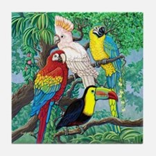 Tropical Birds Tile Coaster