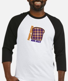 Plaid Peanut butter and jelly Baseball Jersey