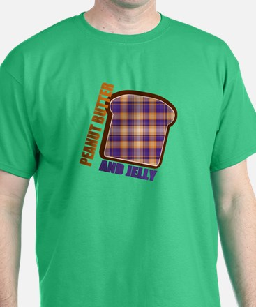 Plaid Peanut butter and jelly T-Shirt