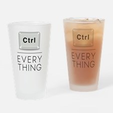 Everything is under Ctrl Drinking Glass
