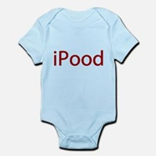 Red iPood Humor Infant Bodysuit
