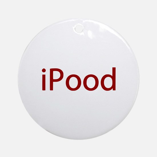 Red iPood Humor Ornament (Round)