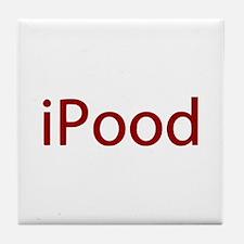 Red iPood Humor Tile Coaster