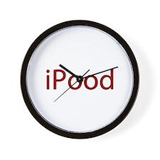 Red iPood Humor Wall Clock