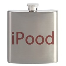 Red iPood Humor Flask
