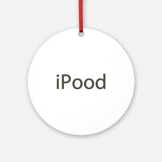iPood Funny Ornament (Round)