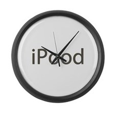 iPood Funny Large Wall Clock