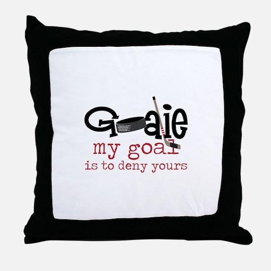 My Goal Throw Pillow
