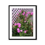 Roses and Trellis Framed Panel Print