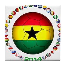 Ghana soccer Tile Coaster