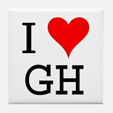 I Love GH Tile Coaster