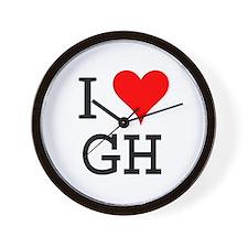 I Love GH Wall Clock