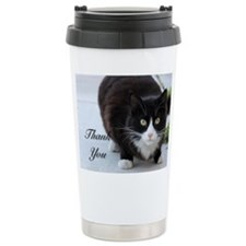 Thank You cat Travel Mug