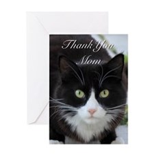 Thank You Mom cat Greeting Cards