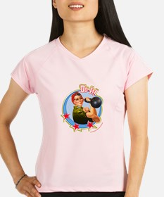 Funny Rosie riveter Performance Dry T-Shirt
