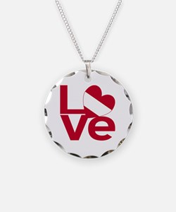 Red Austrian LOVE Necklace