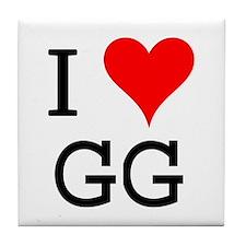 I Love GG Tile Coaster