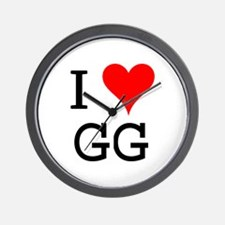 I Love GG Wall Clock