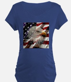 American Eagle Flag Maternity T-Shirt