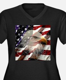 American Eagle Flag Plus Size T-Shirt