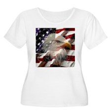 American Eagle Flag Plus Size T-Shirt