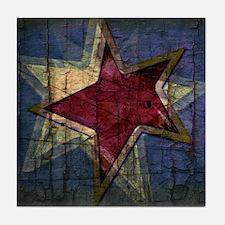 grunge star Tile Coaster