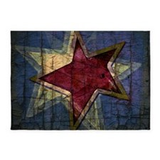 grunge star 5'x7'Area Rug