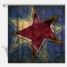 grunge star Shower Curtain