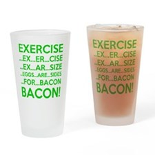 Exercise Eggs Are Sides Bacon Drinking Glass