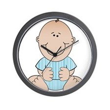 Baby Boy Sitting Wall Clock