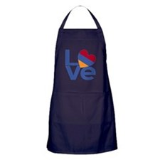Blue Armenia LOVE Apron (dark)