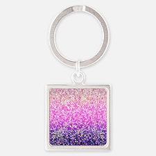 Glitter 6 Square Keychain