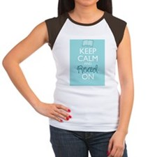 Keep Calm and Read On Women's Cap Sleeve T-Shirt