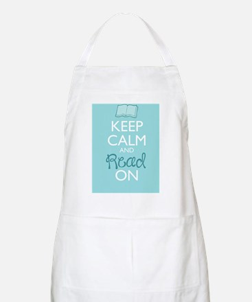 Keep Calm and Read On Apron