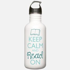 Keep Calm and Read On Water Bottle