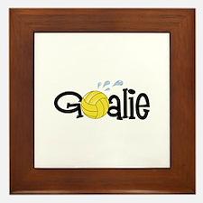 Water Polo Goalie Framed Tile