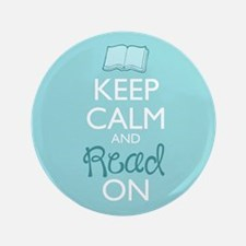 "Keep Calm And Read On 3.5"" Button (100 Pack)"