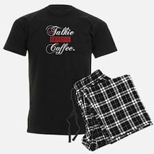 No Talkie Before Coffee(white) Pajamas