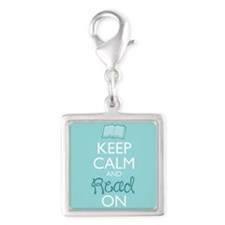 Keep Calm And Read On Charms