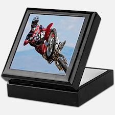 Motocross Stunt Keepsake Box