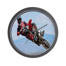 Motocross Stunt Wall Clock