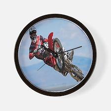 Motocross Stunt Wall Clock