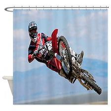 Motocross Stunt Shower Curtain