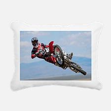 Motocross Stunt Rectangular Canvas Pillow