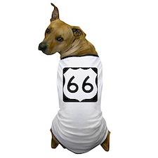 Route 66 Vintage Road Sign Dog T-Shirt