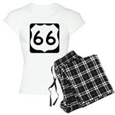Route 66 Vintage Road Sign Pajamas