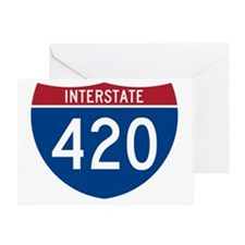 Interstate 420 Road Sign Greeting Card
