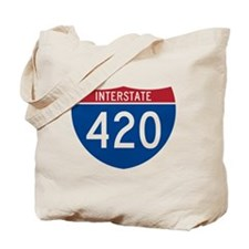 Interstate 420 Road Sign Tote Bag