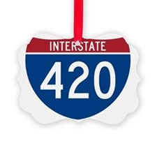 Interstate 420 Road Sign Ornament