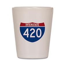 Interstate 420 Road Sign Shot Glass